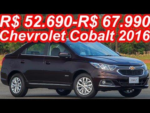 R$ 52.690-R$ 67.990 Chevrolet Cobalt 2016 102 cv-108 cv