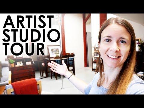 Artist Studio Apartment Tour - Industrial Loft Living