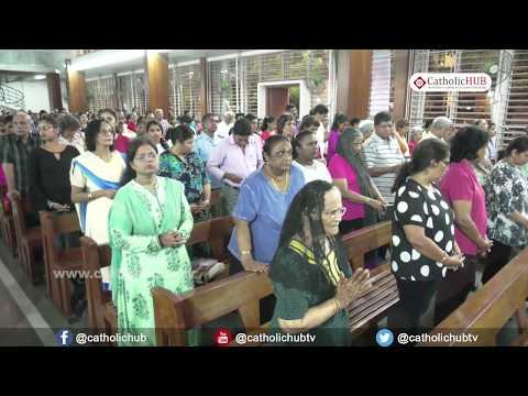 English Mass (Rev.Fr.Bernard) @ St Theresa Church, Bandra, Mumbai, Maharashtra, INDIA, 02-06-17