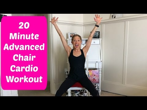 20-Minute Advanced Chair Cardio Workout Video You Can Do With A Foot or Ankle Injury