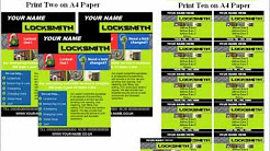locksmith flyers template