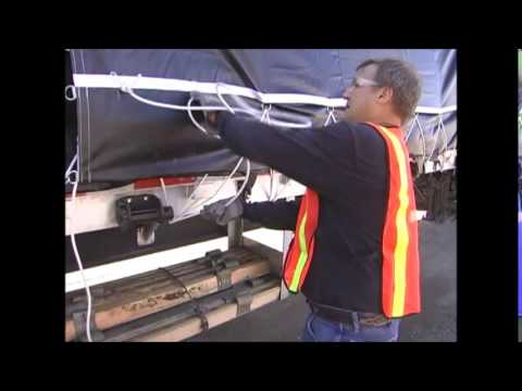 Flatbed 101: How to Tarp A Load Part 5 - Tarp Tie Down