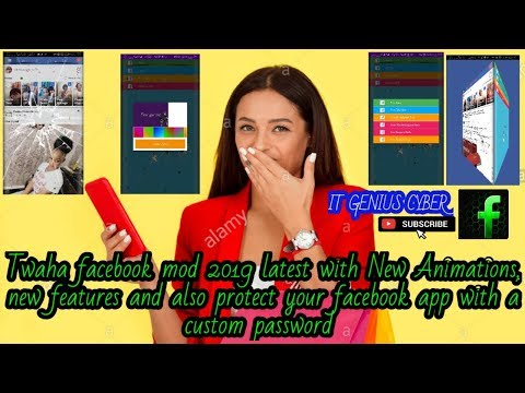 Twaha Facebook Mod 2019 With Animations And Best Features Protect Your Facebook With Custom Password