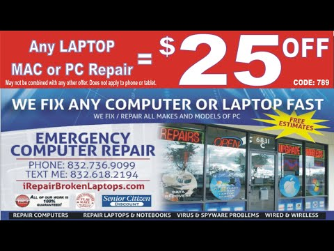 PROFESSIONAL COMPUTER REPAIR DISCOUNT, COUPON CODE $25OFF PEARLAND, FRIENDSWOOD, ALVIN