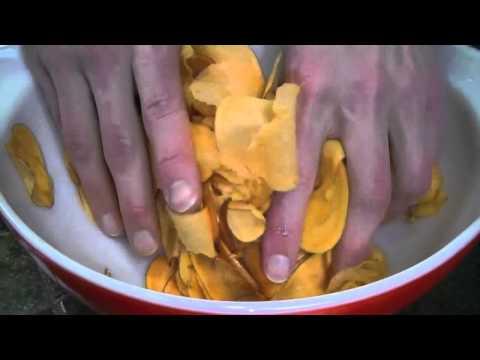 Homemade Organic Dehydrator Potato Chips