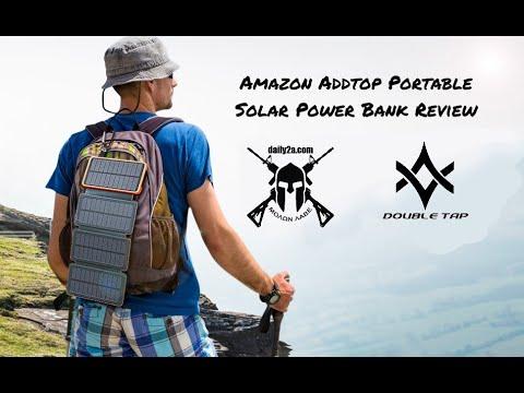 Amazon ADDTOP Portable Solar Power Bank Review