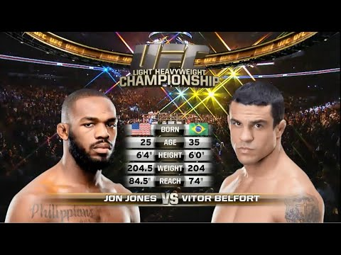 Jon Jones Vs Vitor Belfort FULL FIGHT - UFC 152