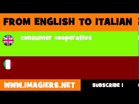 How to say consumer cooperative in Italian