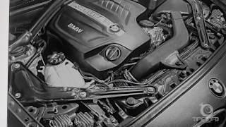 Hyper realistic BMW M3 Engine art