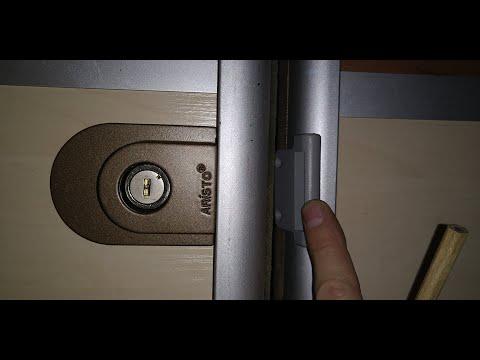 Замок для раздвижных дверей шкафа купе ARISTO
