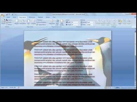 Belajar Microsoft Word 2007 Cara Membuat Picture Watermark Word 2007 Youtube