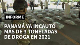 Panamá ya incautó más de 3 toneladas de droga en 2021 | AFP