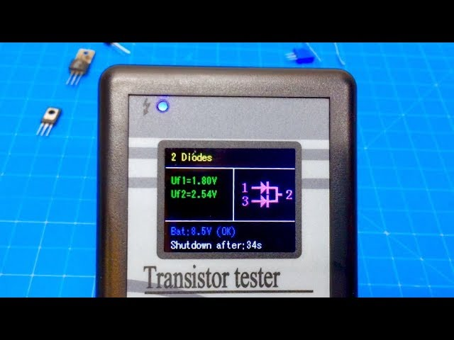 LCD M328 Mosfet Transistor Tester Capacitance Meter LCR ESR Automatic Checker