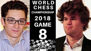 World Chess Championship 2018 - Game 8 Secrets : Magnus Carlsen vs Fabiano Caruana : Next Champion?