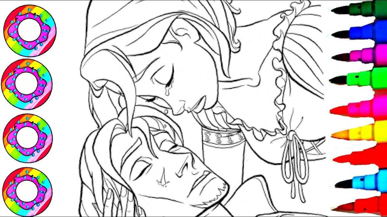 Coloring Drawings Disney\'s Tangled Rapunzel\'s Tears Heals Flynn ...