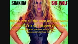 Shakira - Men in this town (She wolf): Letra + traducción