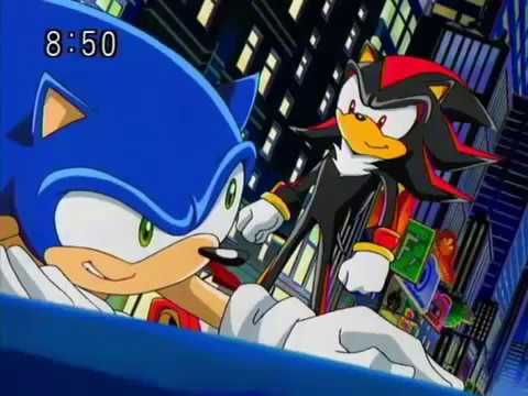 Sonic X Sonic The Hedgehog Vs Shadow The Hedgehog At First Time English Subbed Youtube