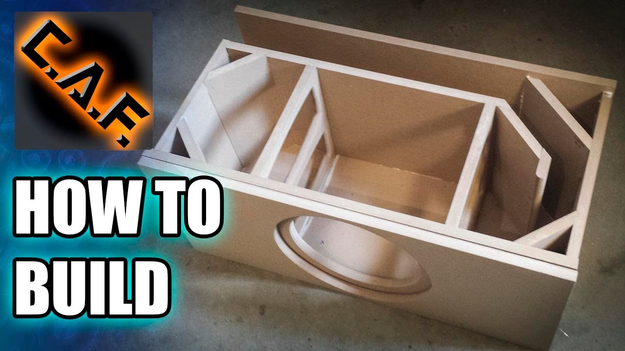 How to Build a Subwoofer Box  YouTube