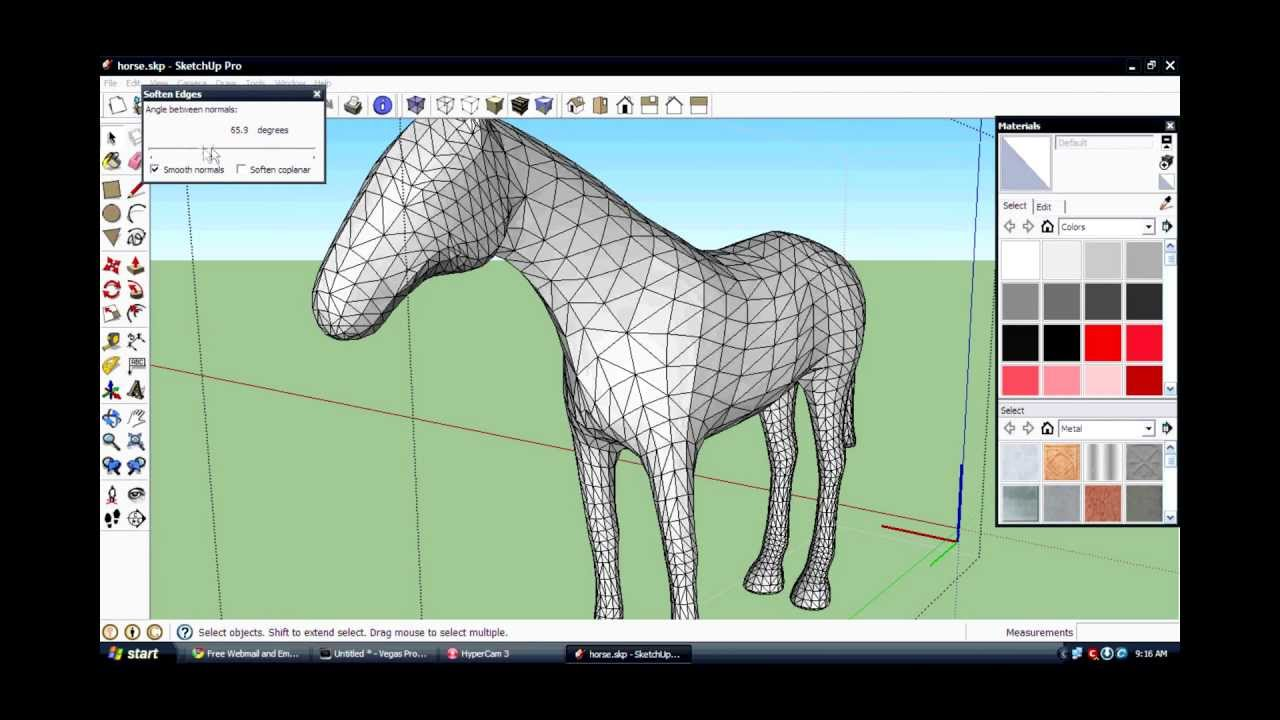 How To Make Soften Edges In Sketchup Youtube