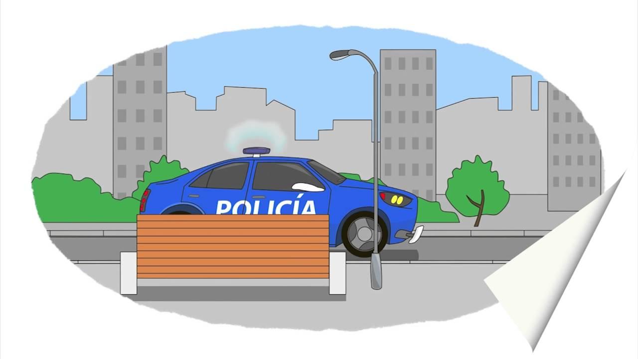 A colorear! Coche de bomberos, coche de policía, ambulancia. Coches ...