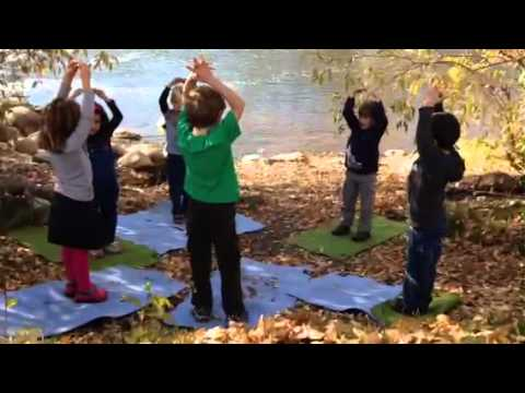 Emerald Mountain School yoga by the river