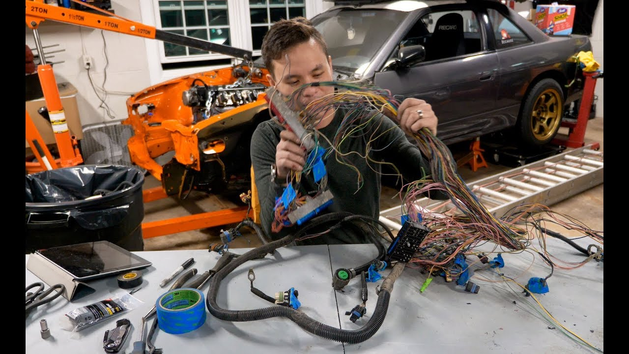 diy wiring harness ls swap 240sx [ 1280 x 720 Pixel ]