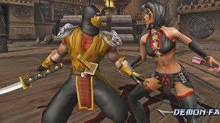 Mortal Kombat Armageddon SCORPION MK11 (FLAWLESS VICTORY) - VERY HARD (PS2)【TAS】