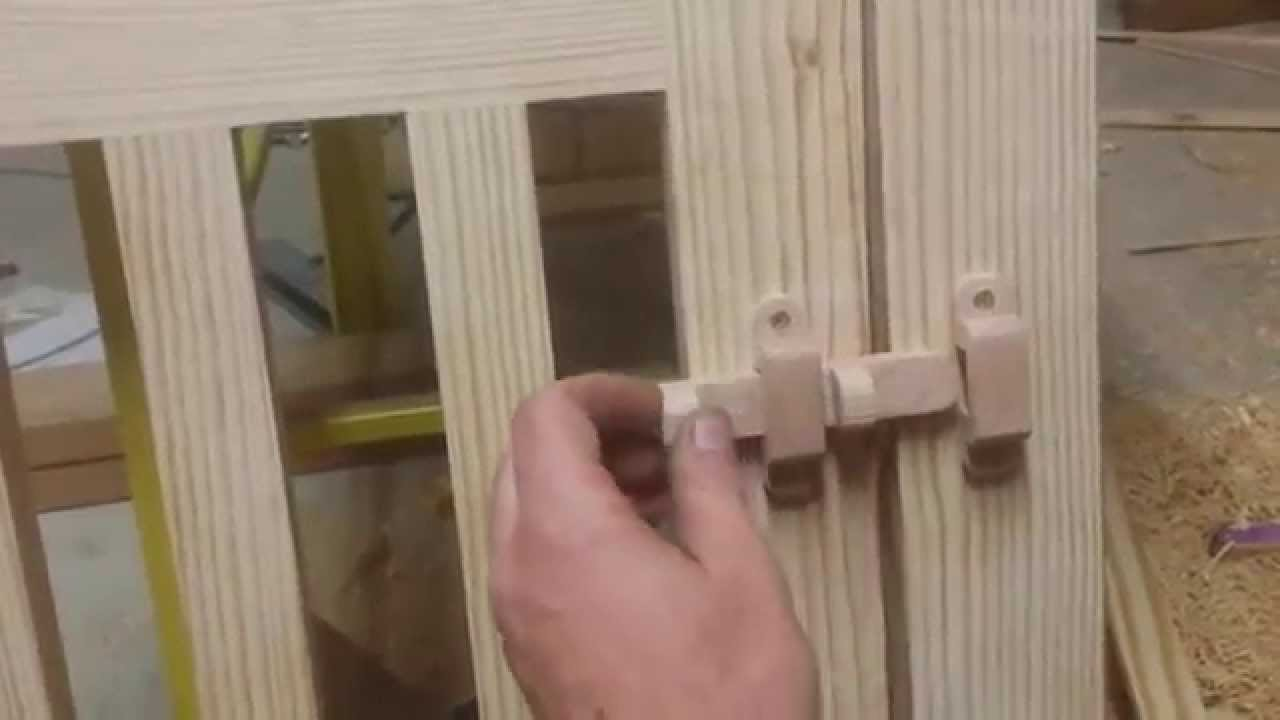 Simple Wooden Latch and Wooden Hinges & Simple Wooden Latch and Wooden Hinges - YouTube