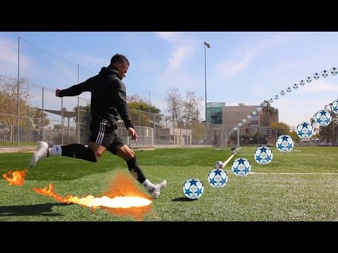 MOST AMAZING CURVE FOOTBALL CHALLENGE