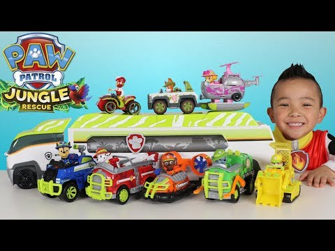 Thumbnail: Paw Patrol Jungle Patroller Full Vehicles And Characters Set Toys Unboxing Ckn Toys