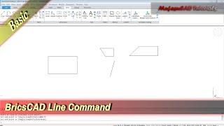 BricsCAD Line Command Basic Tutorial For Beginner