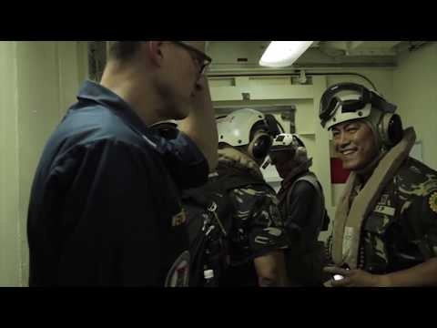 AFP General in Landing Platform Dock (LPD-9) USS Denver Visit