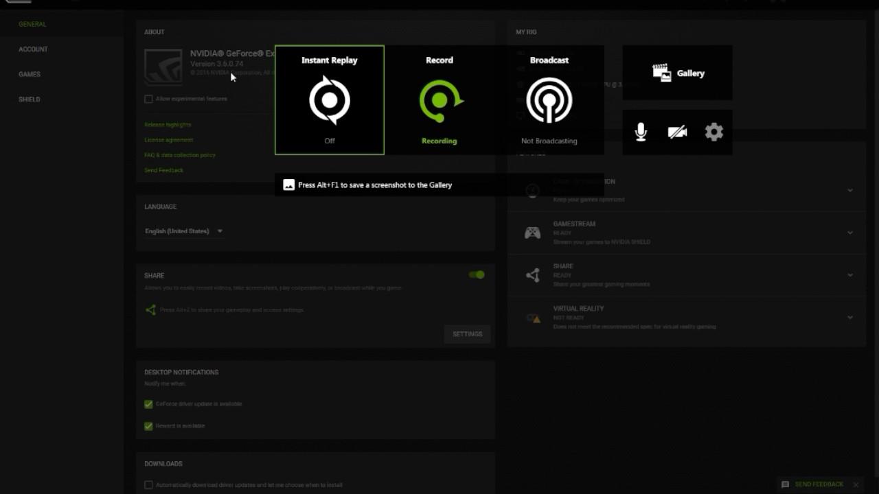 shadowplay audio settings