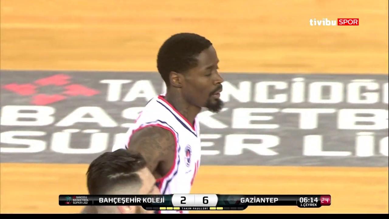 Maç Özeti:Bahçeşehir  Koleji - Gaziantep Basketbol