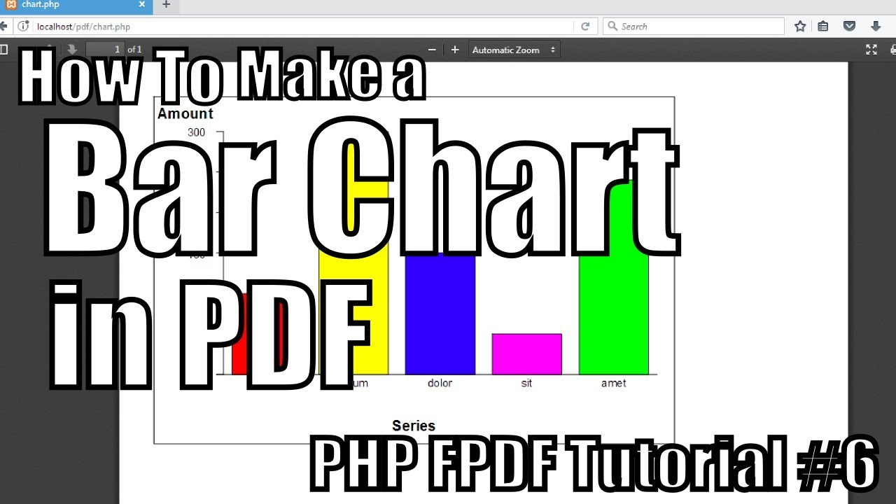 How to Make Bar Chart in PDF | PHP FPDF Tutorial #6 - YouTube