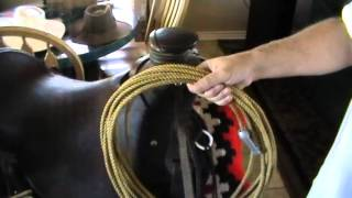 How To Attach A Lariat, Lasso or Throwing Rope To A Saddle - Leather Rope Strap - Horseman Tips