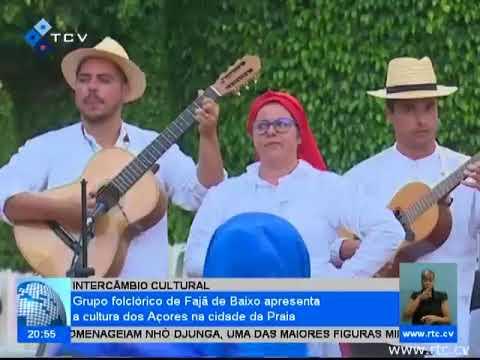 Grupo Folclórico de Fajã de Baixo apresenta a cultura dos Açores na cidade da Praia