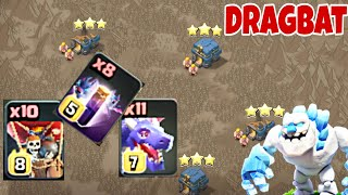 TH12 BEST CWL WAR ATTACK STRATEGY 2019 | TH12 DRAGBAT WAVE WITH ICE GOLEMS - Clash of Clans