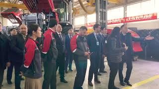 Визит премьер-министра РК Аскара Мамина на открытие Костанайского тракторного завода