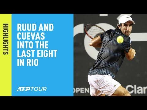 Highlights: Ruud, Cuevas March Into Last Eight at Rio 2019