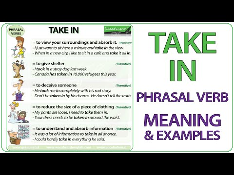 TAKE IN - Phrasal Verb Meaning & Examples in English
