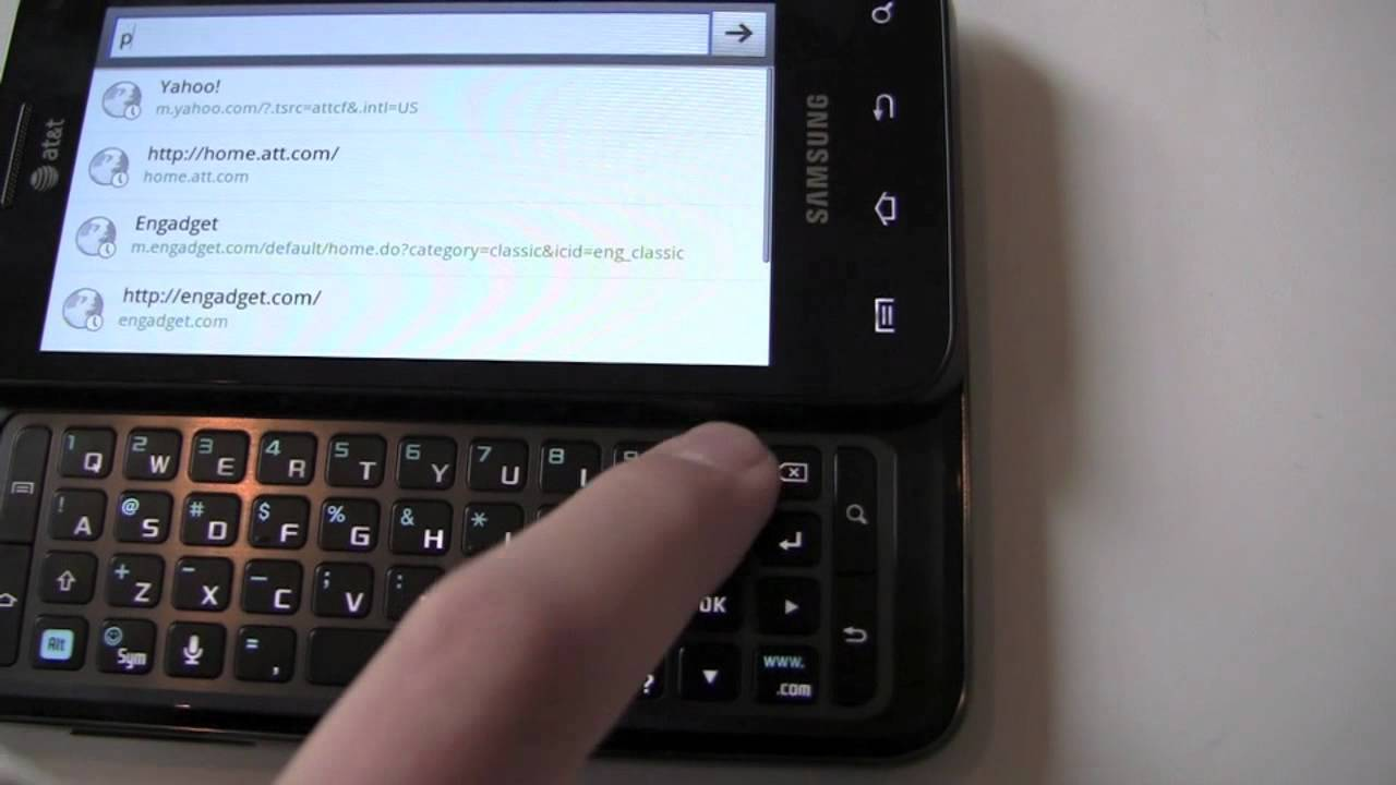 Samsung Captivate Glide Hands On Youtube