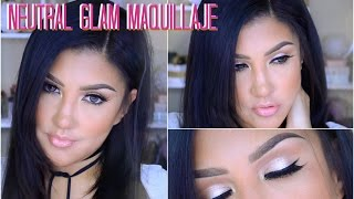 maquillaje neutral glam natural neutral natural easy makeup tutorial   auroramakeup