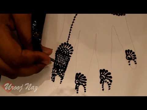 New Jewelry Design Stencil Henna - Mehandi Art By Urooj Naz