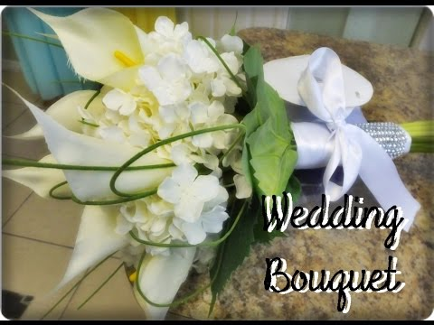 How To Make A Wedding Bouquet With Artificial Flowers.How To Make A Wedding Bouquet Using Silk Flowers Bridal Bouquet