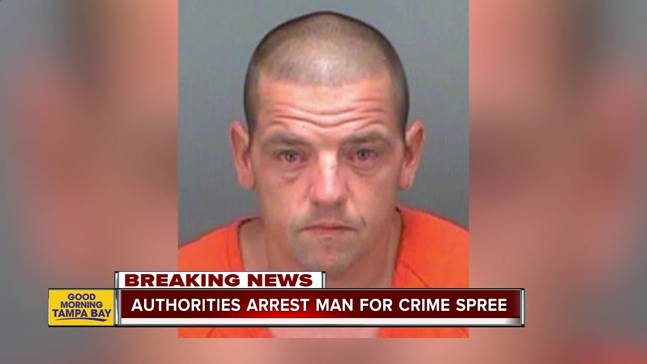 White Man in Clearwater crime spree ends in arrest at bank
