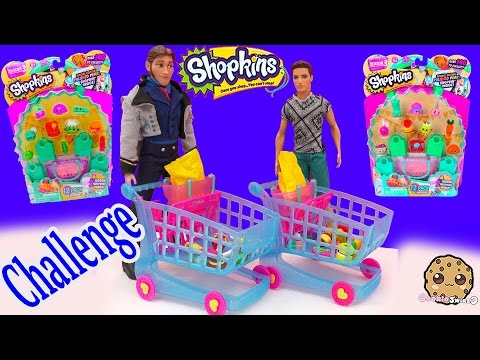 Disney Frozen Prince Hans Vs Barbie Ryan In Shopkins Season 3 Competition Opening 12 Pack