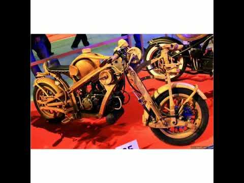 Motorcycles made of wood. Мотоциклы из дерева.