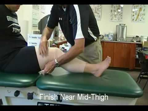 How To Wrap An Elastic Bandage Knee Compression Youtube