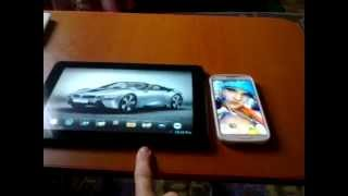 ezcast (telefon)  ve  ezcast screen (tablet)